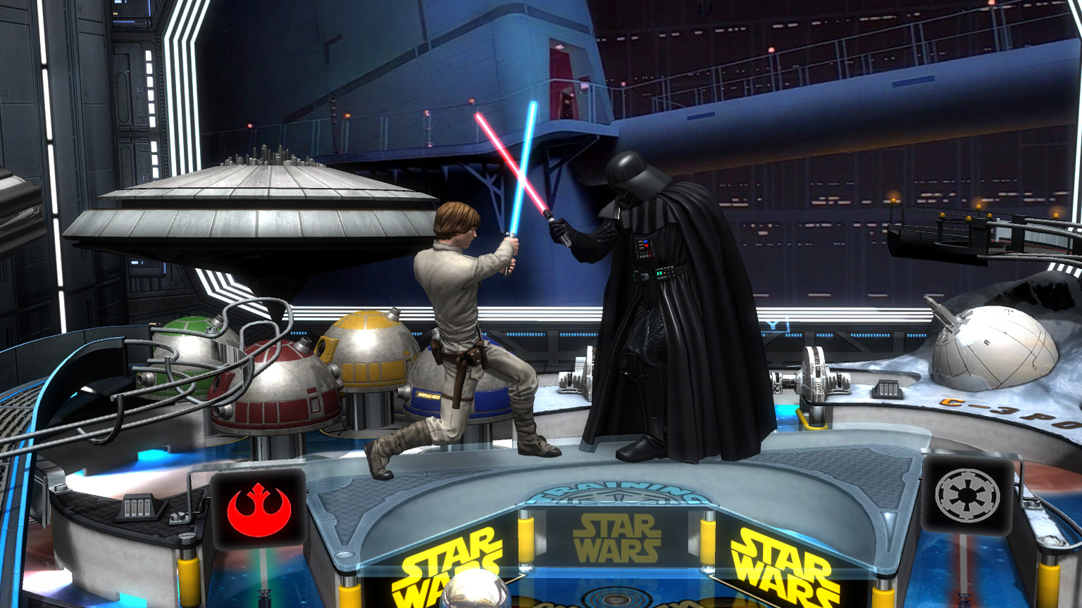 Star Wars Pinball on Nintendo Switch screenshot.