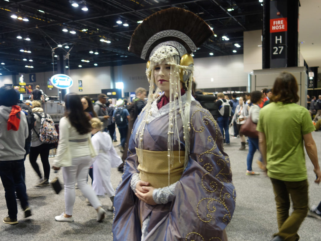 Padmé Amidala cosplay at Star Wars Celebration Chicago.