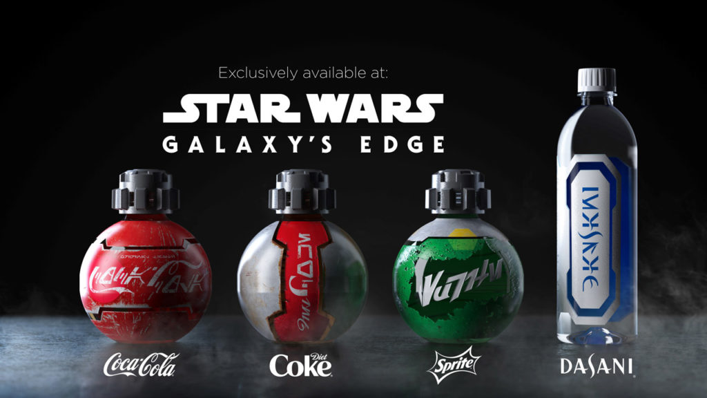 Star Wars: Galaxy's Edge Coca-Cola and other beverages.