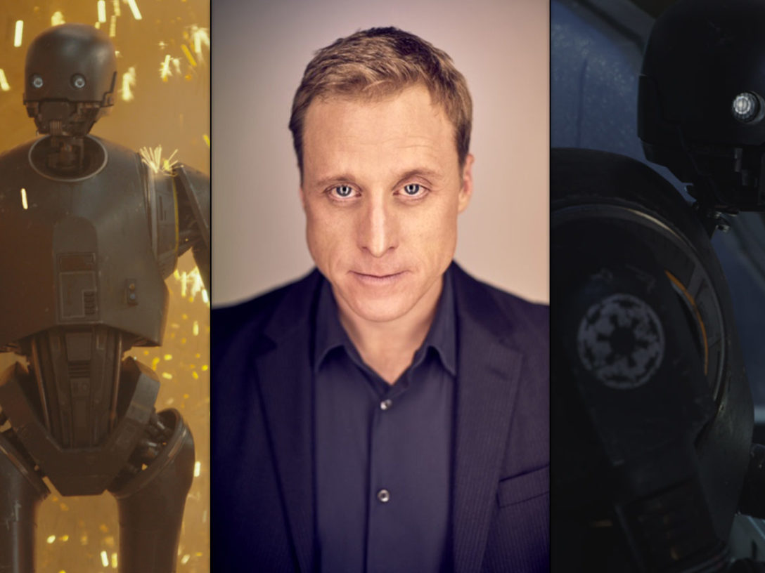 K-2SO and an image of Alan Tudyk.