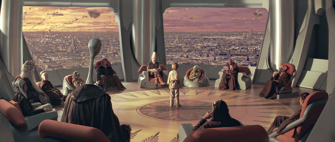 The Jedi Council in The Phantom Menace.