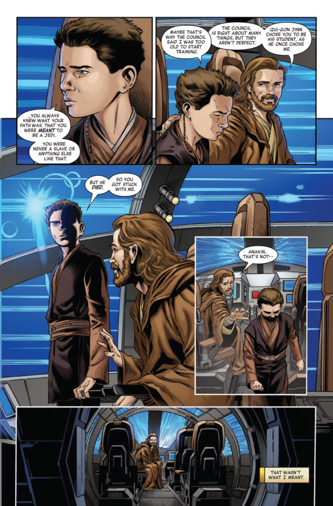 Age of Republic: Obi-Wan Kenobi - Anakin and Obi-Wan talk in a starship.