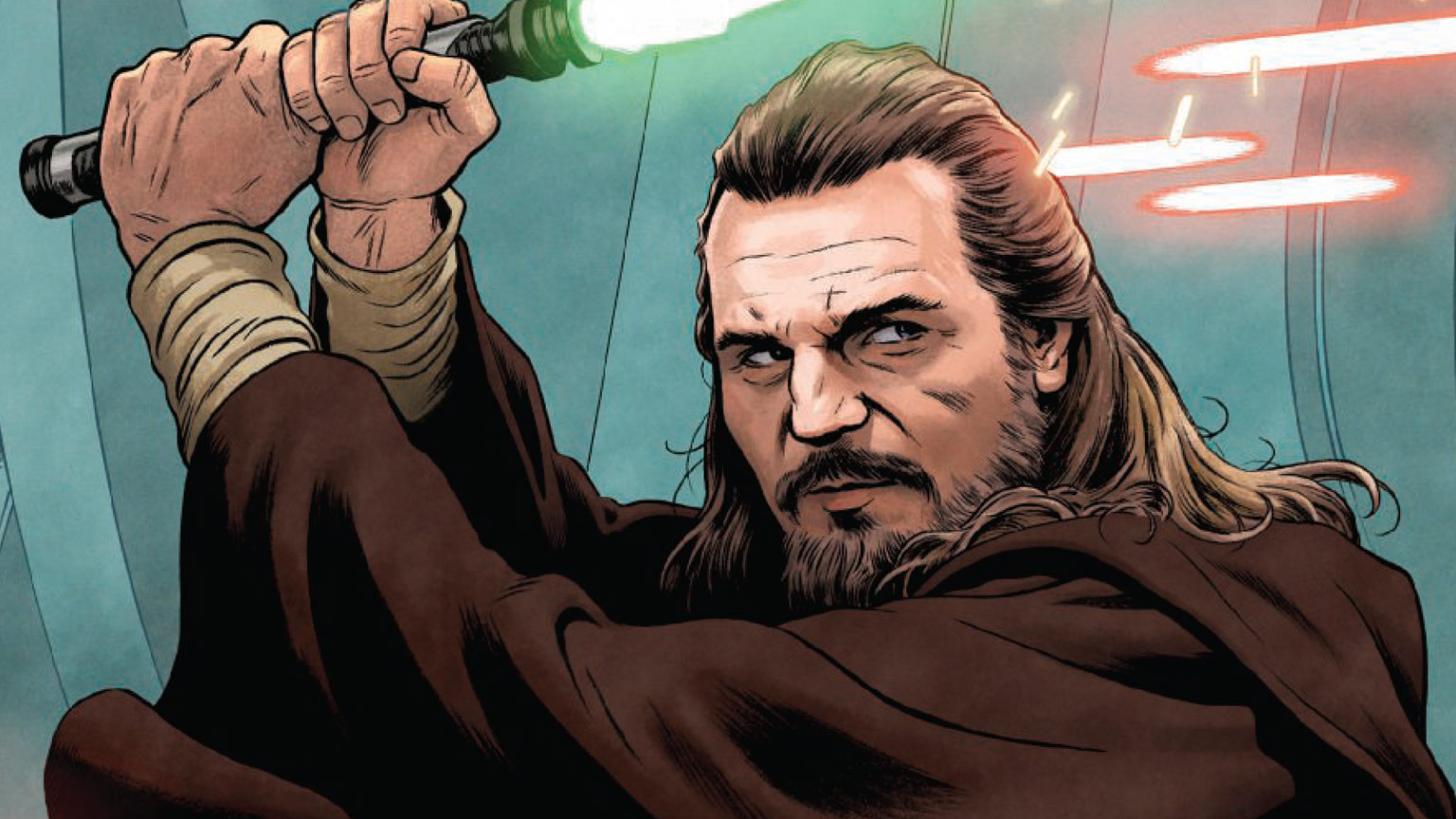 Qui-Gon Jinn from the cover of Age of Republic: Qui-Gon Jinn.