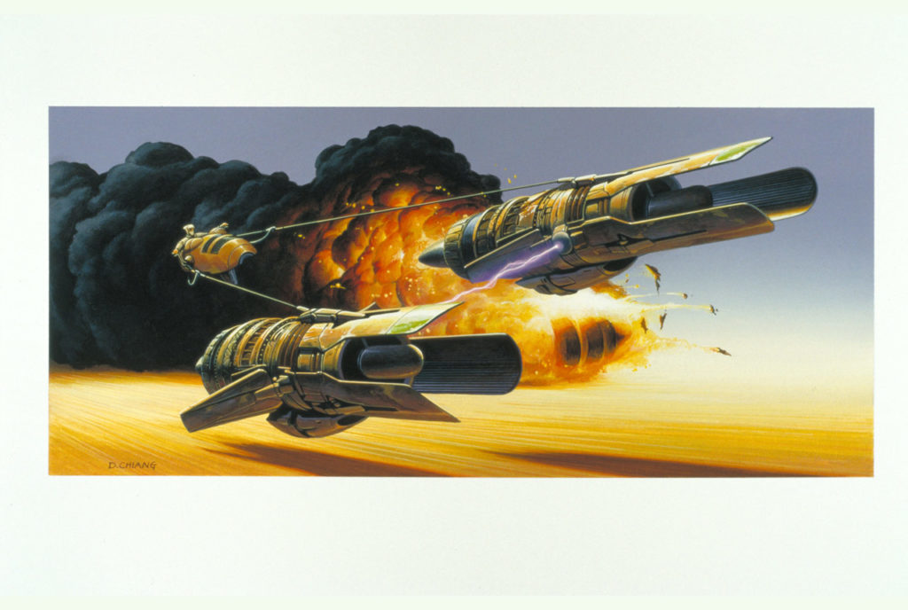 Anakin Skywalker podracer concept painting