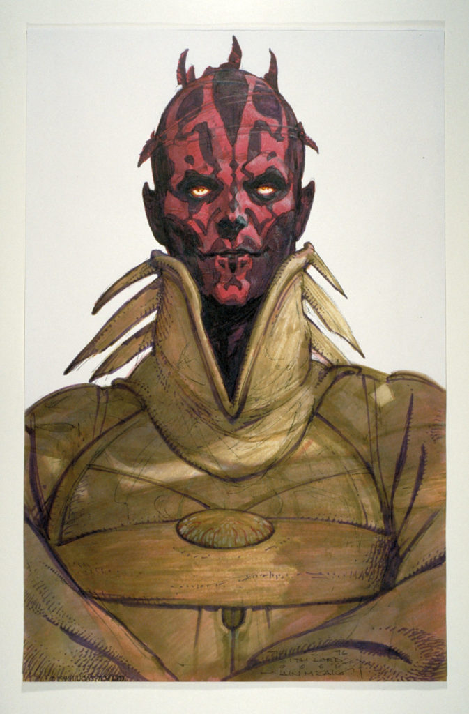 Darth Maul concept art.