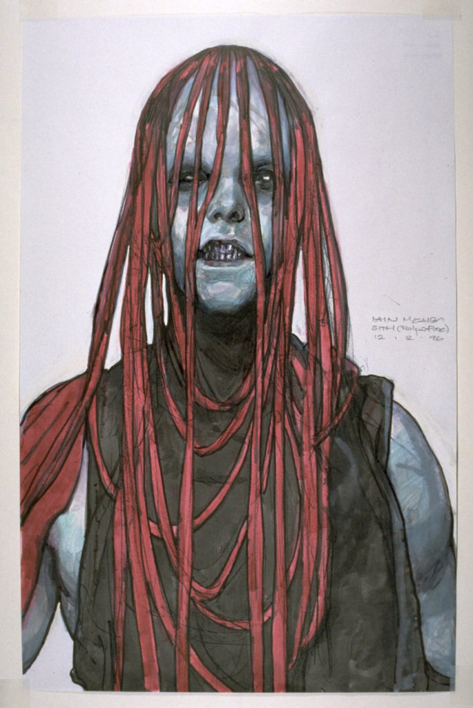 Early Darth Maul concept art.