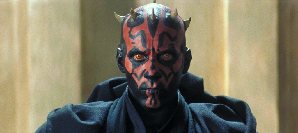 Darth Maul on Theed in The Phantom Menace.