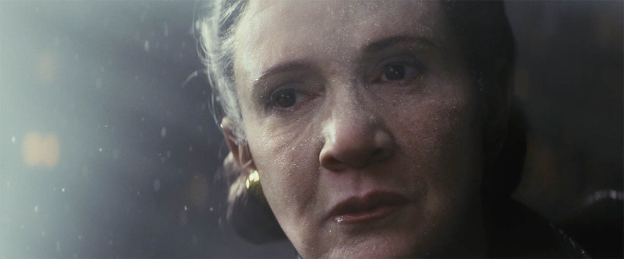 Leia in The Last Jedi.