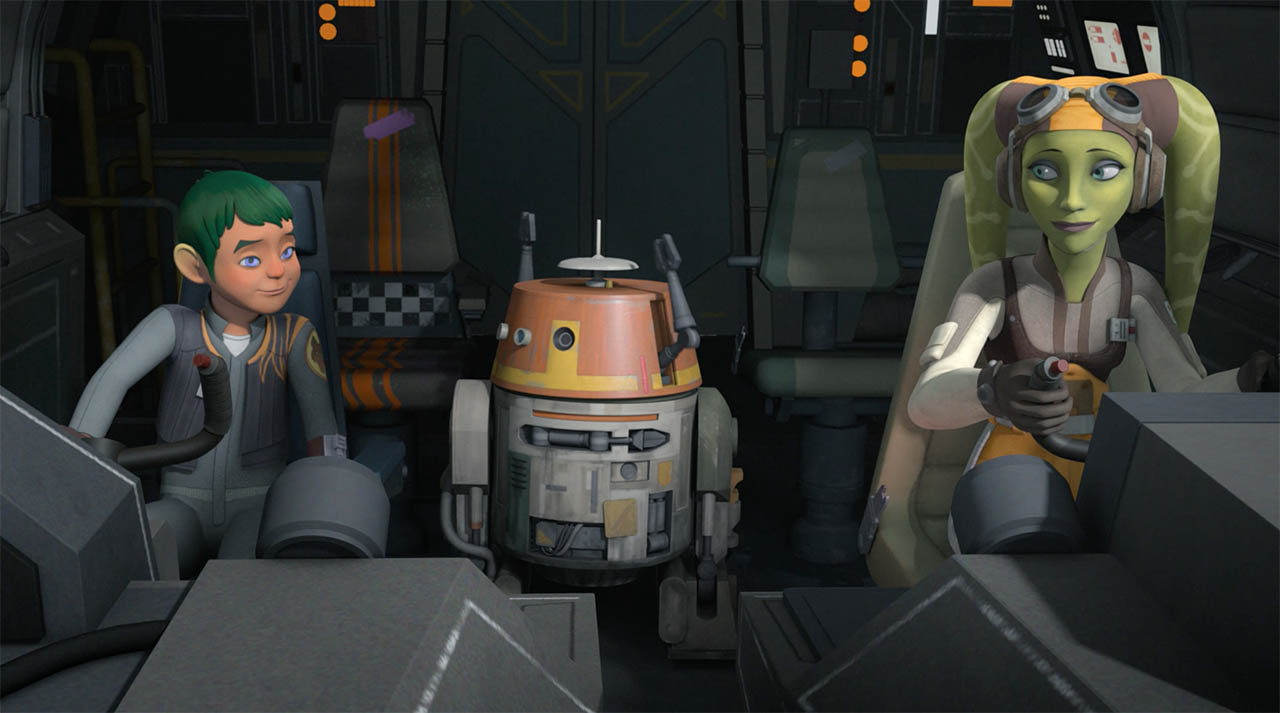 Hera at the end of Star Wars Rebels.
