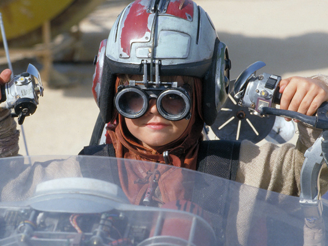 Anakin Skywalker in The Phantom Menace.