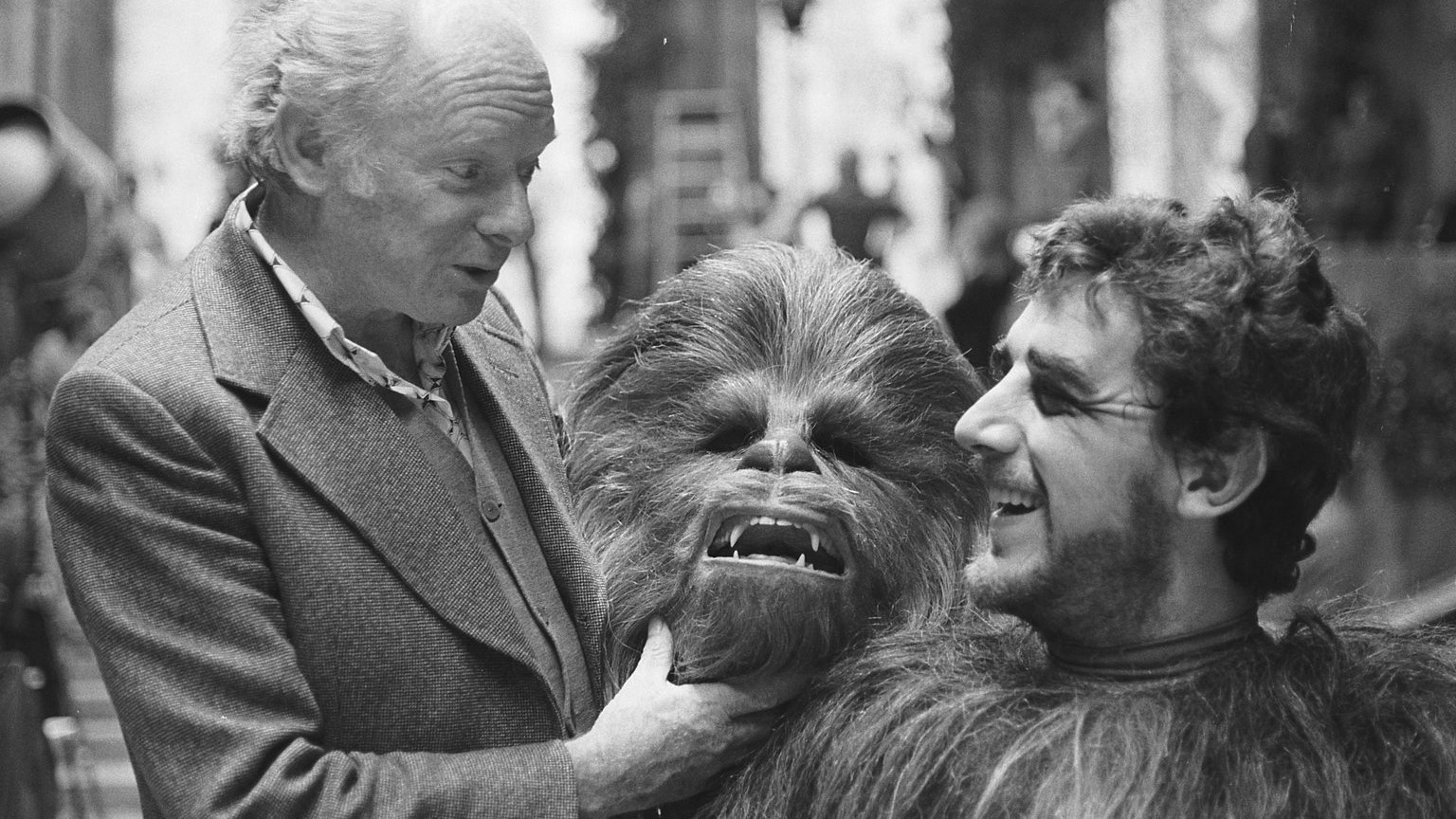 Peter Mayhew with Stuart Freeborn.