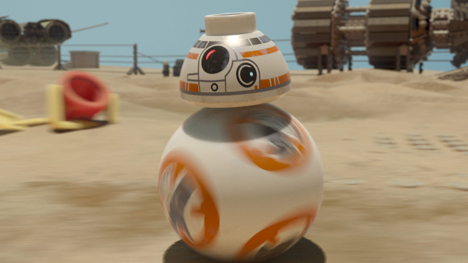 BB-8 in LEGO Star Wars: The Force Awakens.