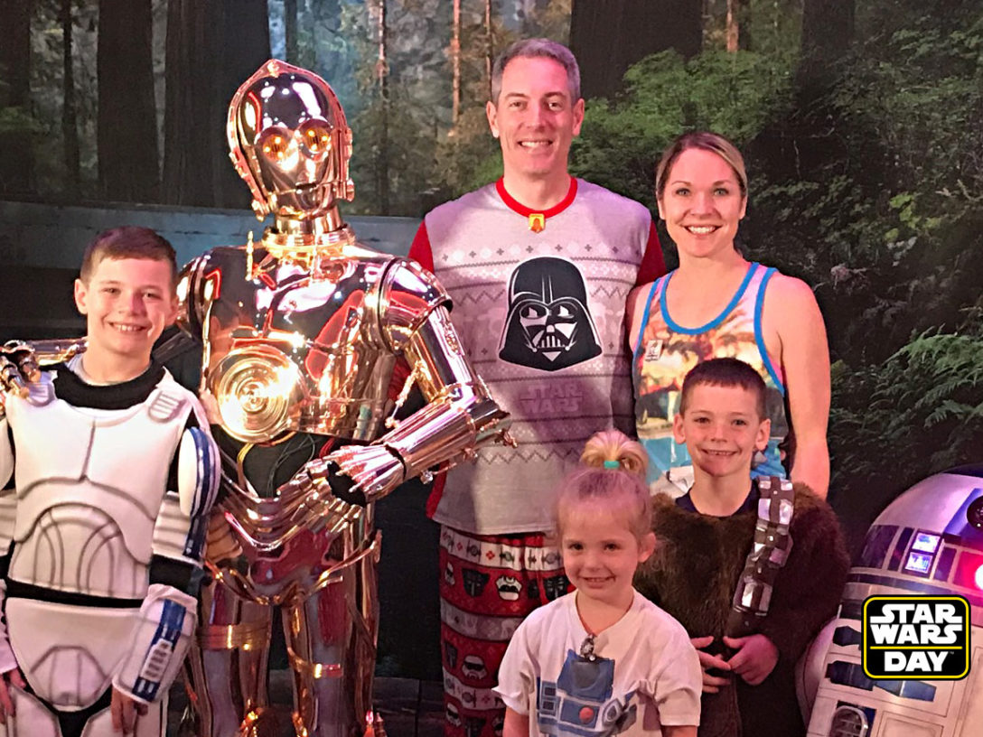 The Varcoe family at Star Wars Day at Sea.