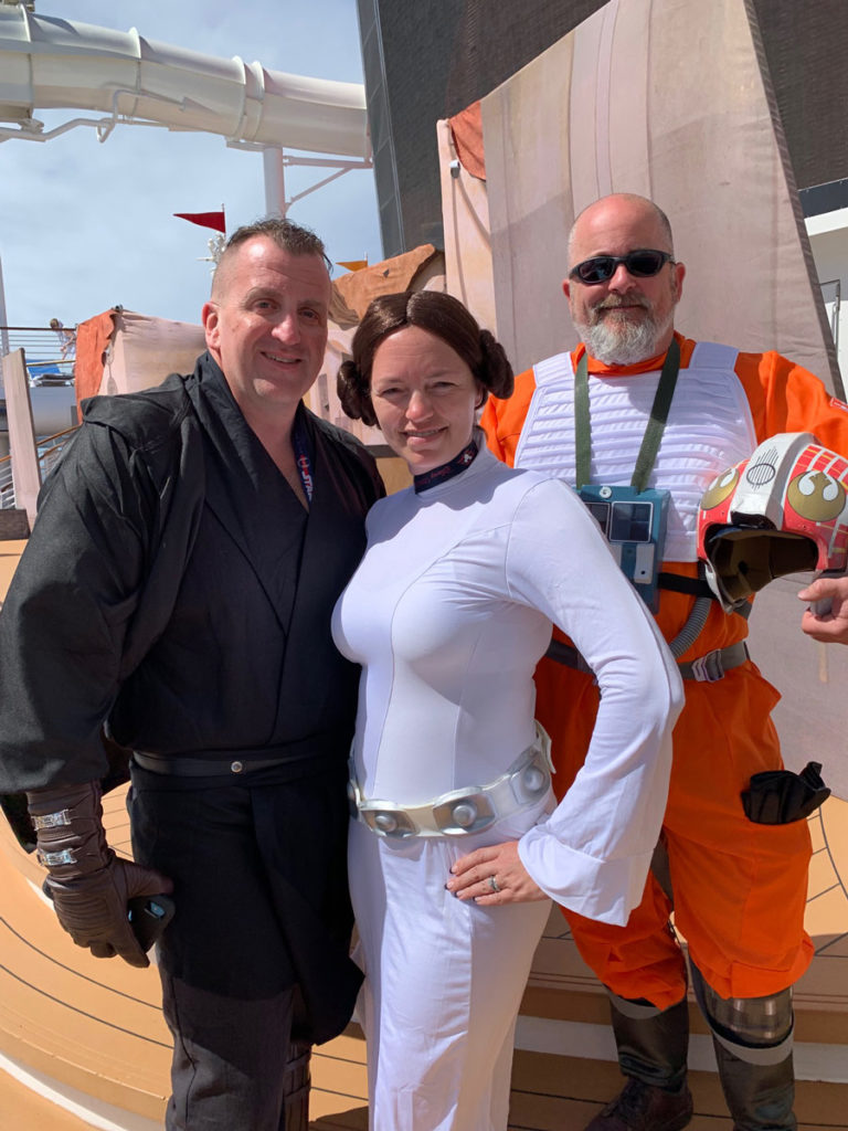 Star Wars fans on Star Wars Day at Sea.