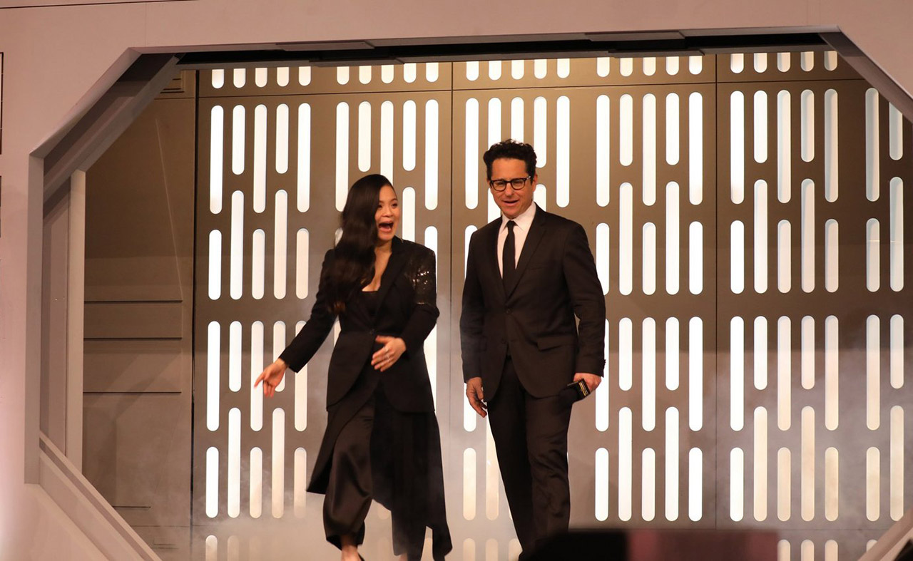 Kelly Marie Tran and J.J. Abrams take the stage at Star Wars Celebration Chicago.