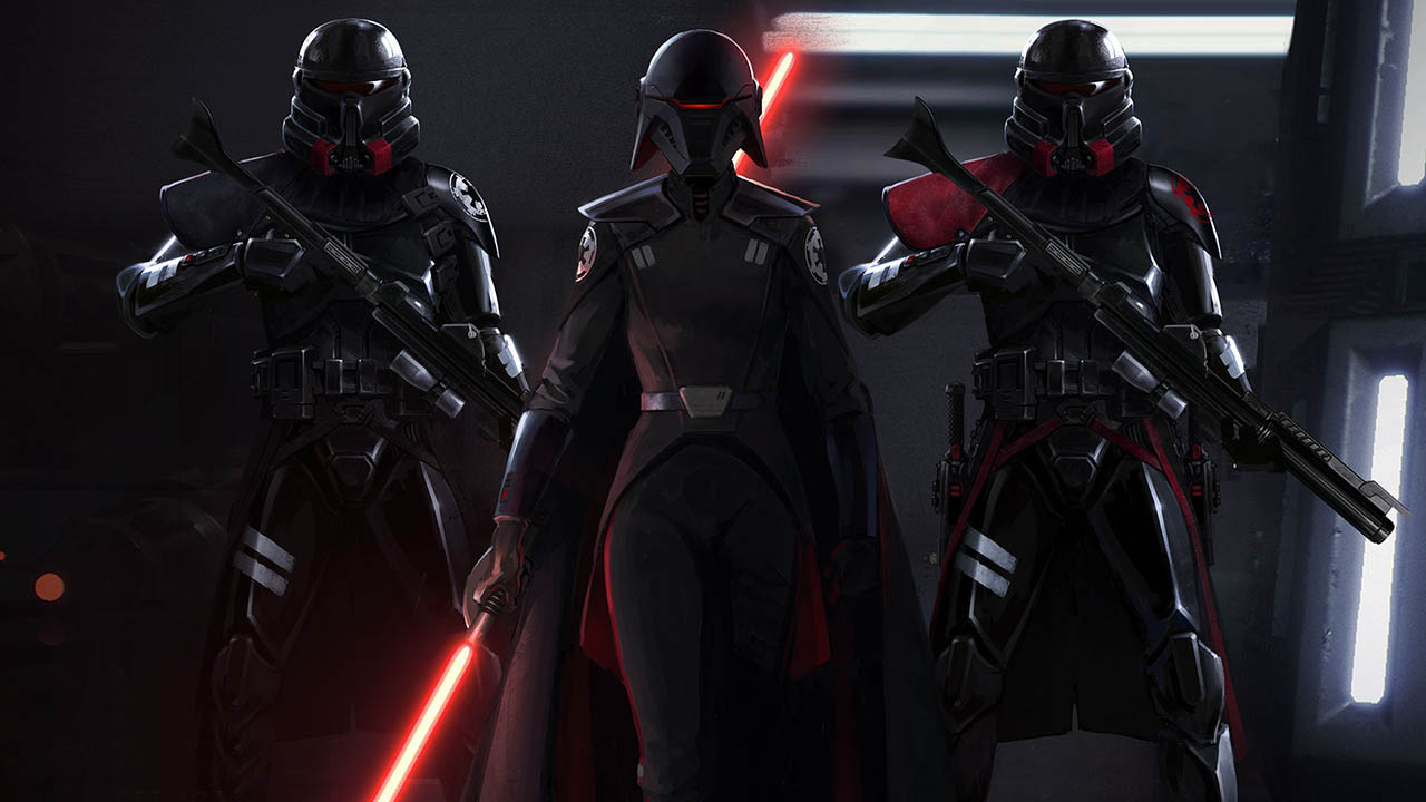 Purge troopers in Star Wars Jedi: Fallen Order.
