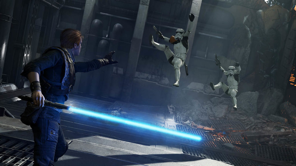 Star Wars Jedi: Fallen Order screenshot - Cal Force push