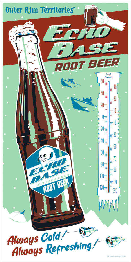 Acme Archives Echo Base Root Beer poster SDCC exclusive