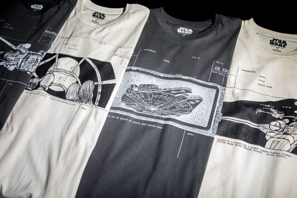 BioWorld Star Wars storyboards shirts