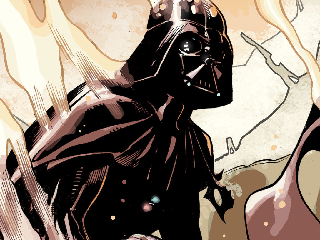 Panel from Marvel Comics #1000 featuring Darth Vader.