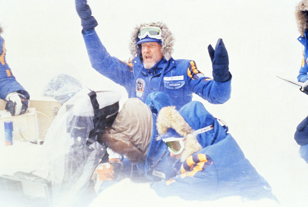 Director Irvin Kernsher on set in Norway shooting Star Wars: The Empire Strikes Back.
