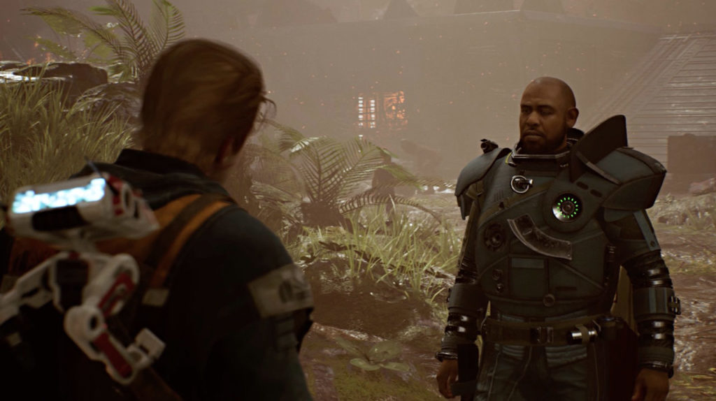 Cal and Saw Gerrera in Star Wars Jedi: Fallen Order.