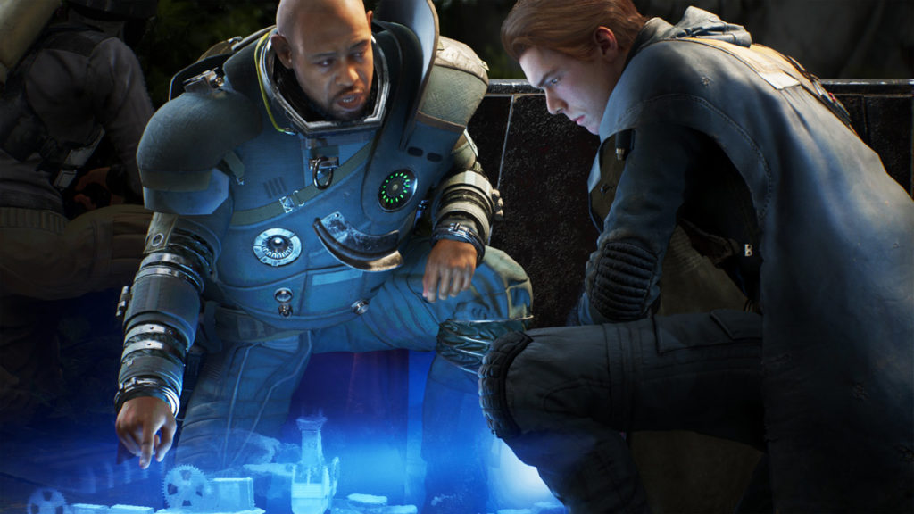 Saw Gerrera and Cal Kestis in Star Wars Jedi: Fallen Order.
