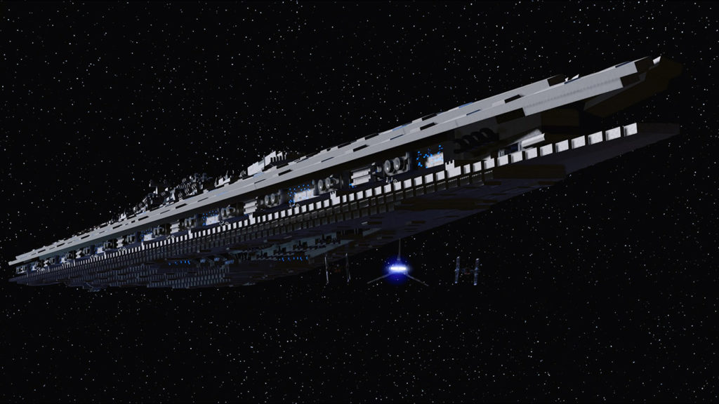 A Star Destroyer in LEGO Star Wars: The Skywalker Saga.