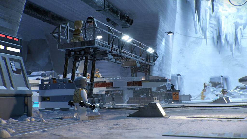 The rebel base on Hoth in LEGO Star Wars: The Skywalker Saga.
