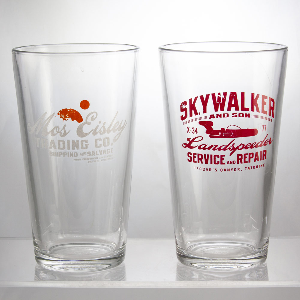 Seven20 Star Wars pint glasses SDCC exclusives