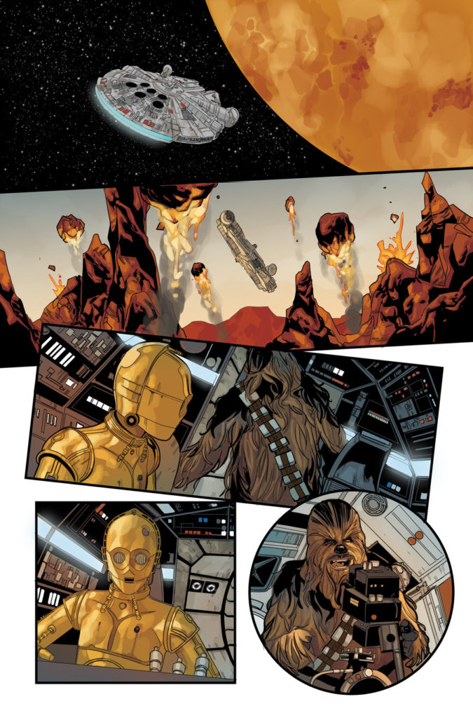 Star Wars #68 page with Chewbacca and C-3PO teaming up.
