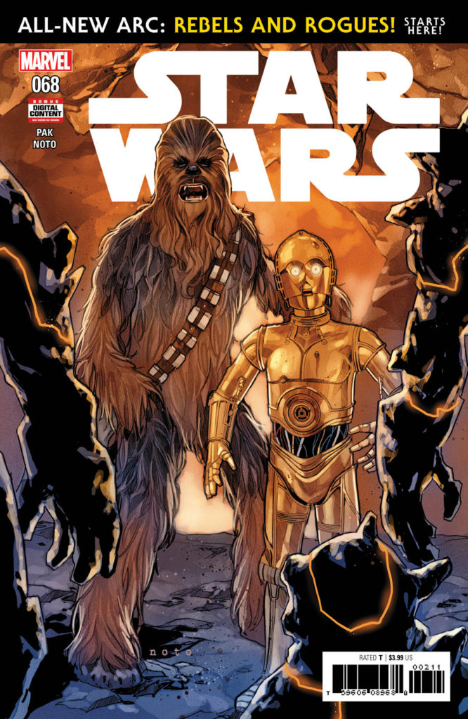 Star Wars #68 cover with Chewbacca and C-3PO.