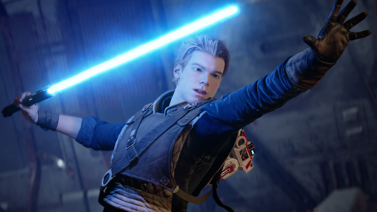 Star Wars Jedi: Fallen Order screenshot - Cal with lightsaber