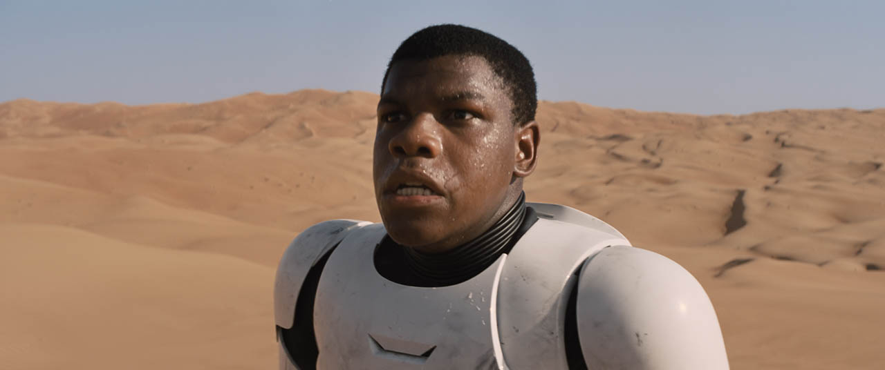 Finn crash lands in the desert back on Jakku.