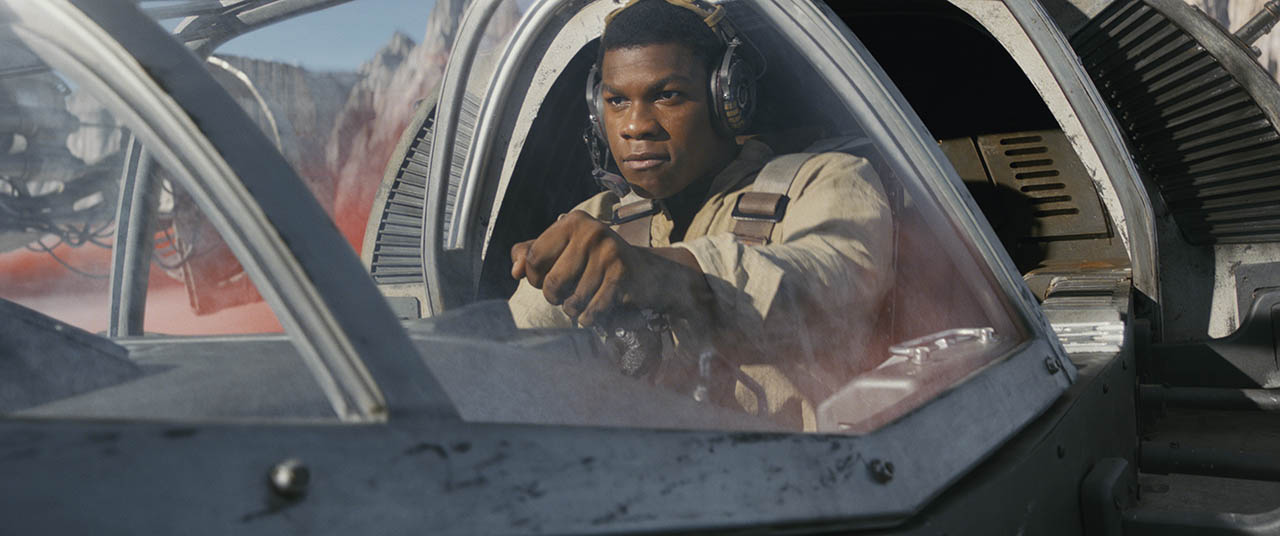 Finn joins the fight on Crait.