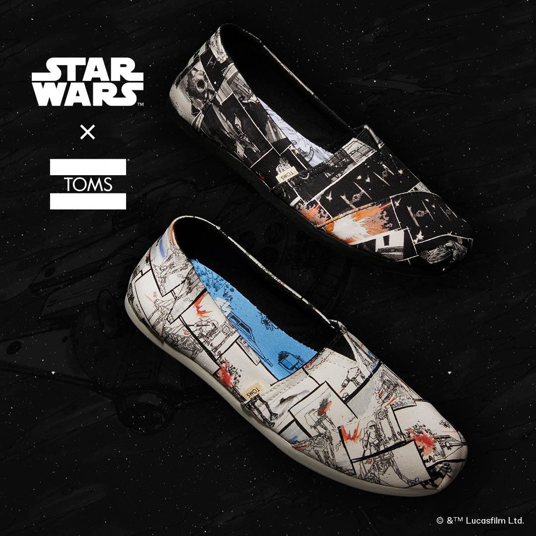 The new TOMS x Star Wars collaboration.