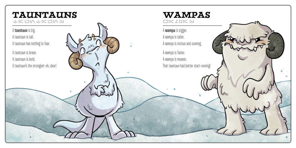 Star Wars creatures Big and Small tauntaun and wampa spread