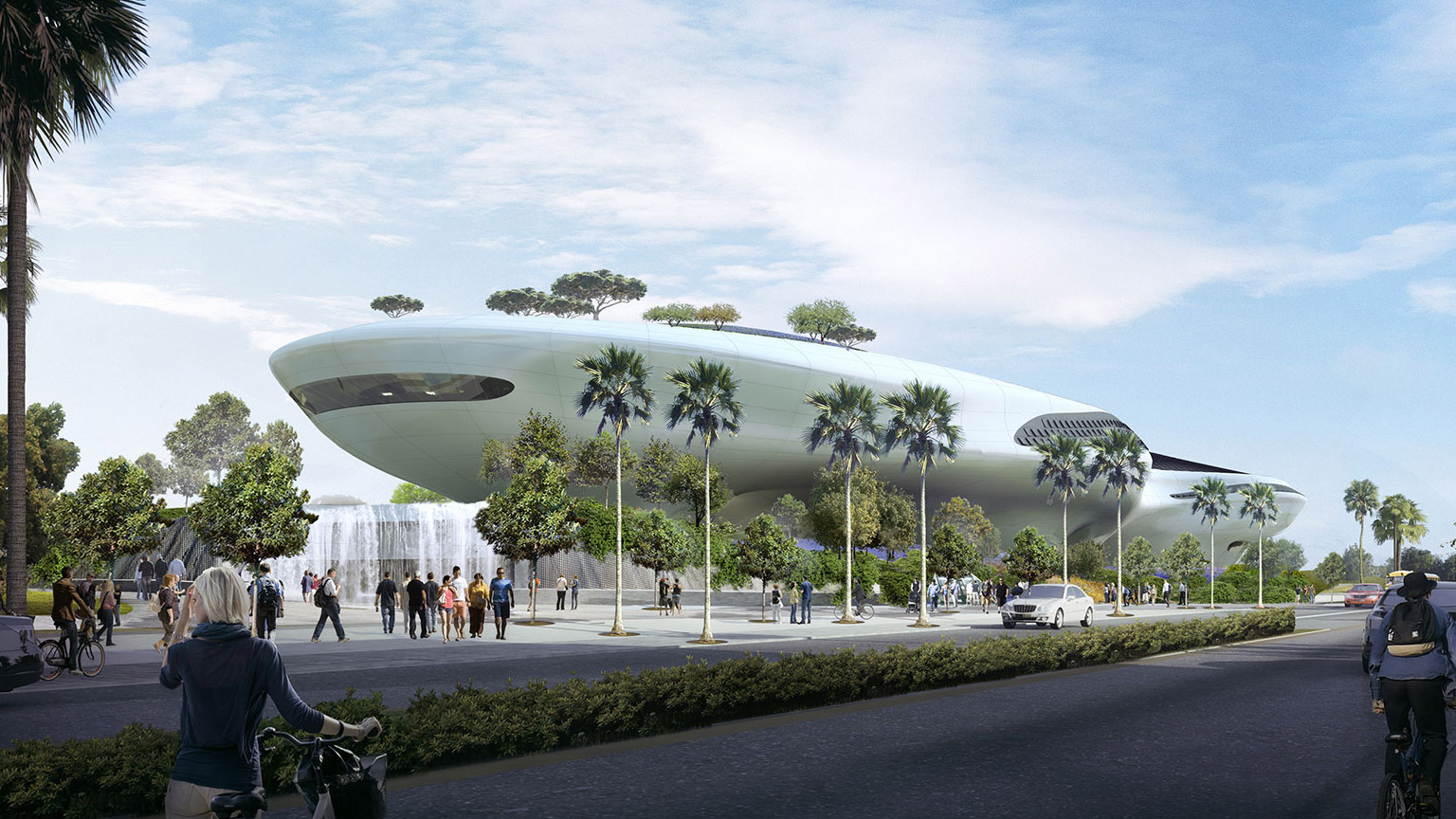 An artist's concept for the Lucas Museum of Narrative Art.