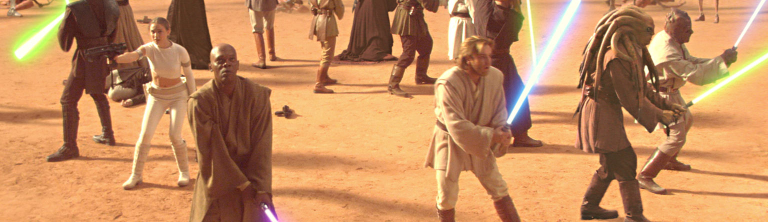 Jedi gather for a fight on Geonosis.