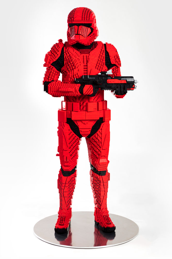 LEGO Sith trooper life-size model