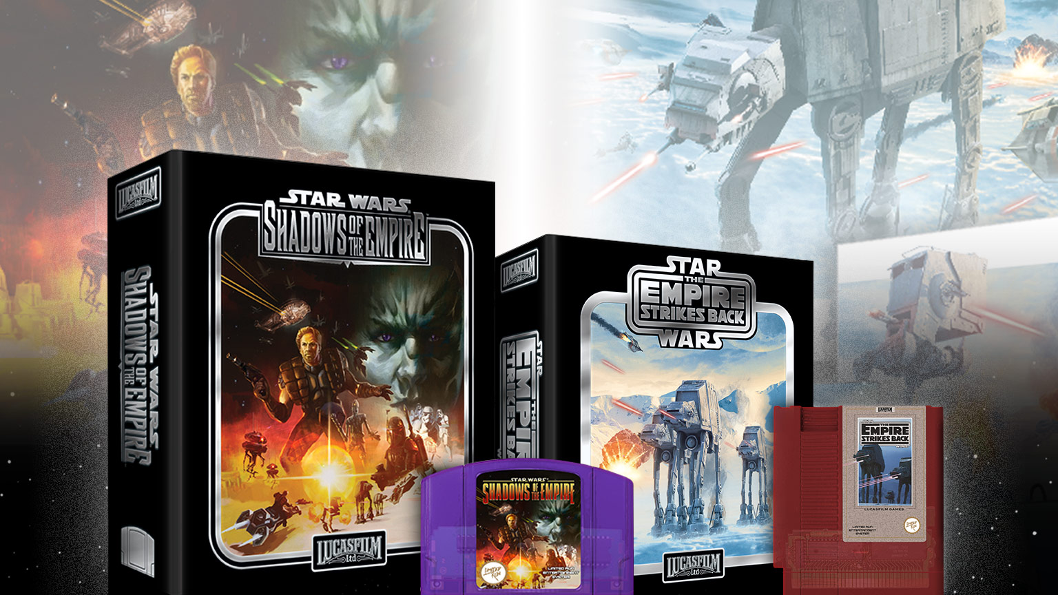 Limited Run Games Star Wars games Shadows of the Empire and The Empire Strikes Back