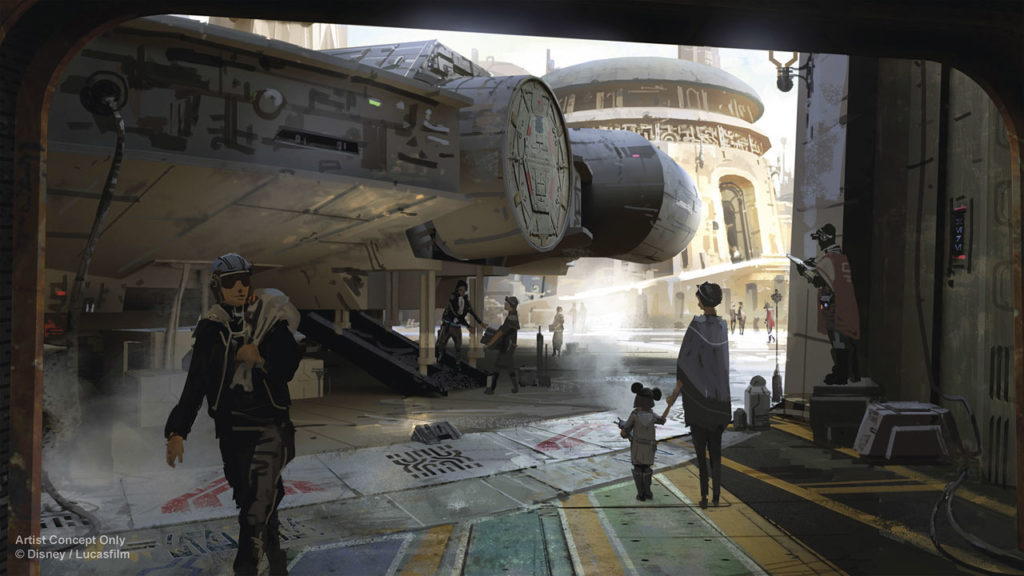 Millennium Falcon: Smugglers Run attraction concept art