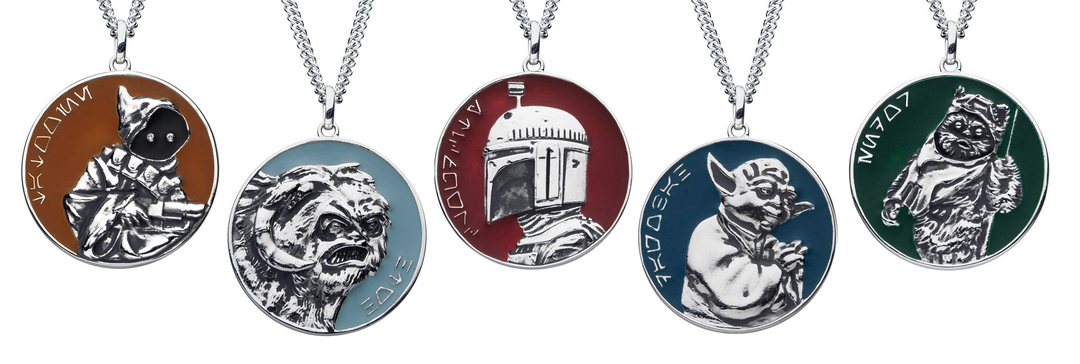 Planetary medallions from the new RockLove X Star Wars collection.