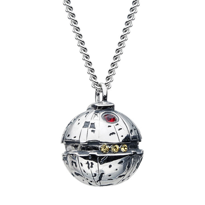 A thermal detonator necklace from the new RockLove X Star Wars collection.