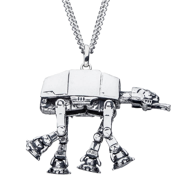 An AT-AT necklace from the new RockLove X Star Wars collection.
