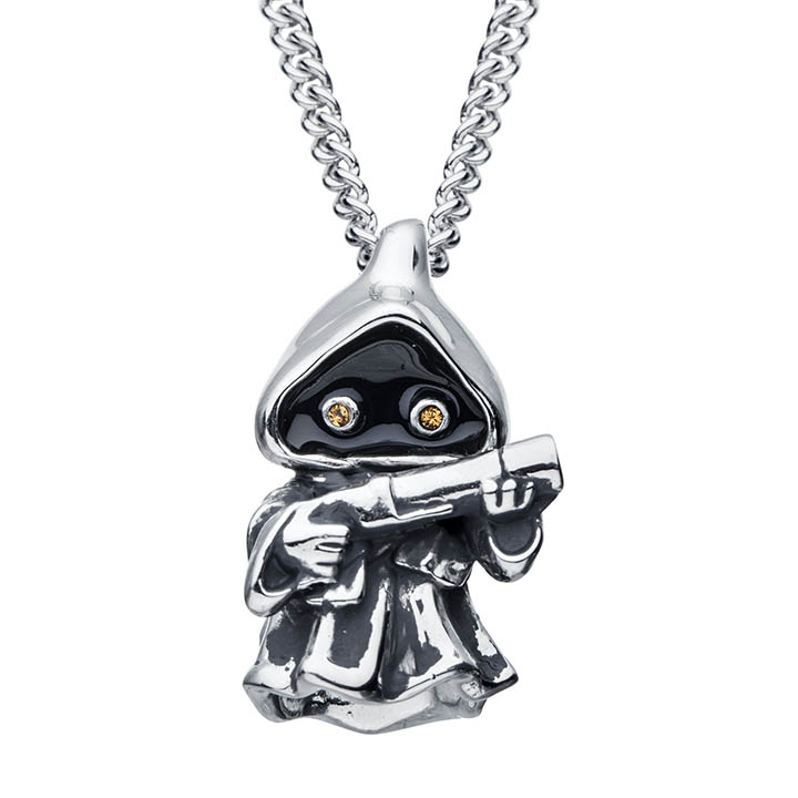 A Jawa necklace from the new RockLove X Star Wars collection.