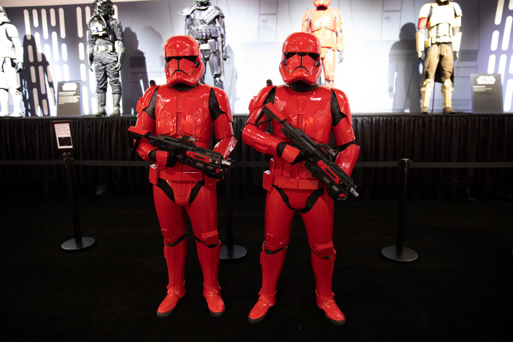 Sith trooper cosplayers on patrol at SDCC 2019