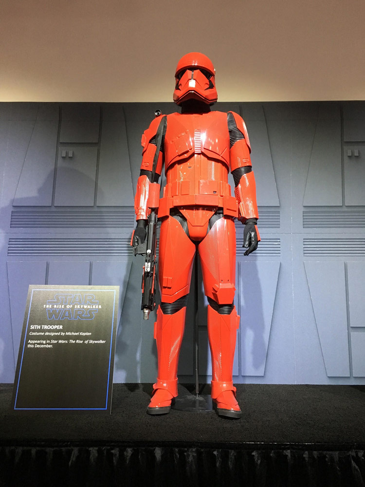 Sith trooper on display at San Diego Comic-Con 2019