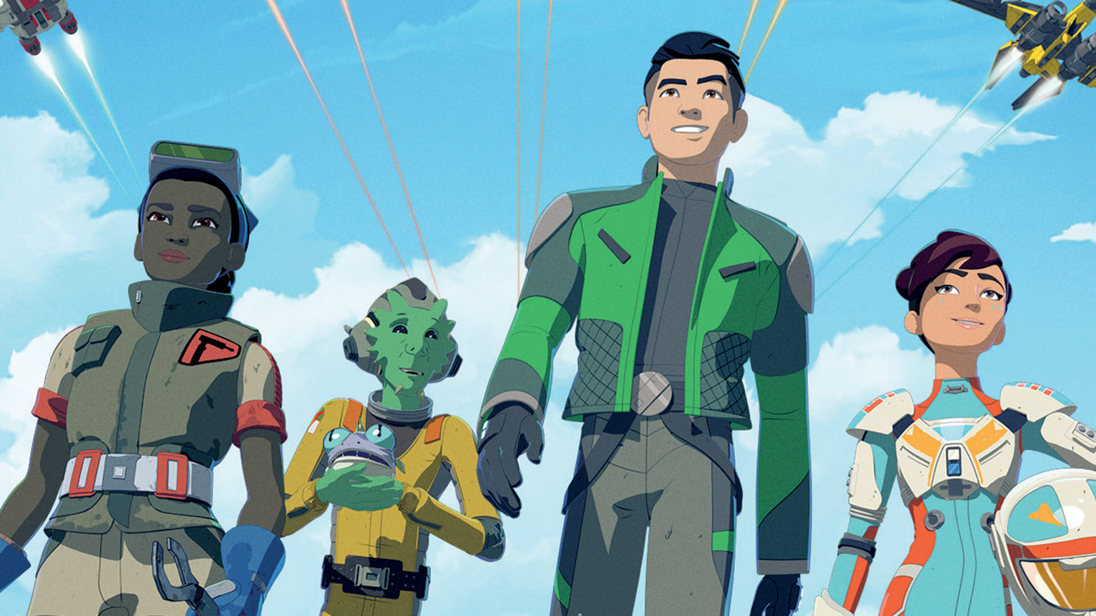 Team Fireball on the cover of Star Wars Resistance Complete Season One.