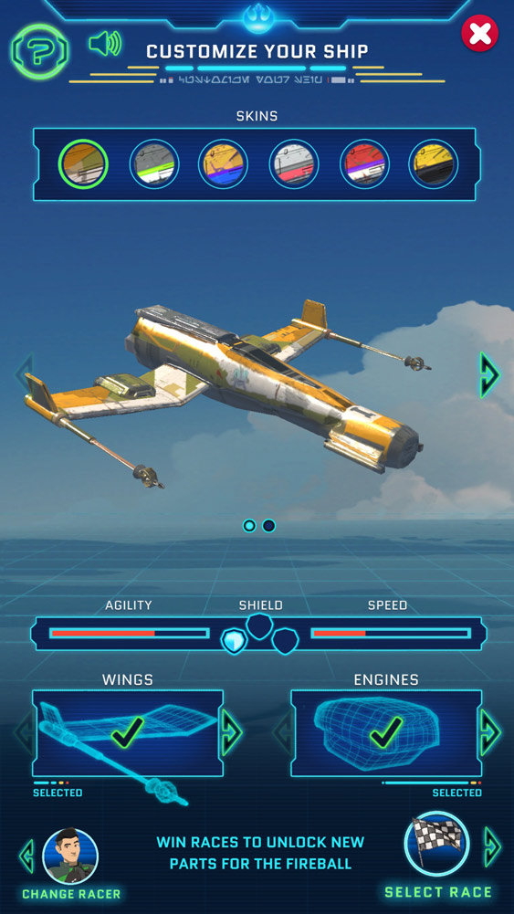 The Fireball in Star Wars Resistance Racer